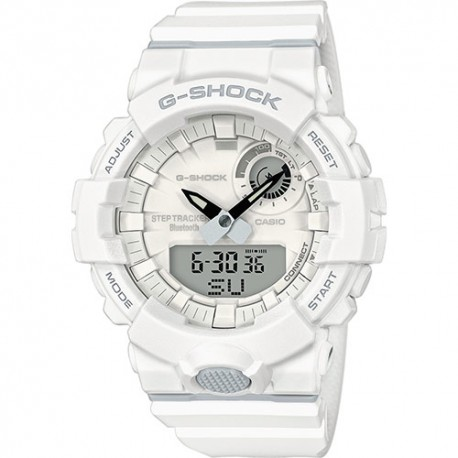 Casio G-Shock  GBA-800-7AER Bluetooth contapassi bianco