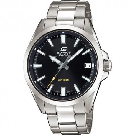 Casio Edifice acciaio inox orologio uomo vetro minerale data fondo vite 10 WR