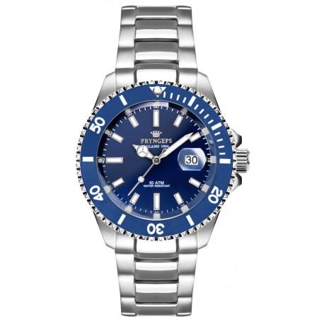 Orologio Pryngeps da uomo e da donna tipo Rolex, Submariner, blu