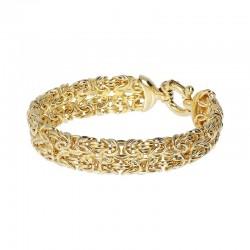 bracciale donna Etrusca gioielli placcato oro 18 kt giallo moda maglia bizantina