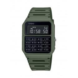 Casio vintage da uomo lcd ca-53w calculator crono watch digitale verde data giorno
