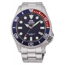 orologio da uomo Orient automatico Triton day diver 200 mt acciaio zaffiro blu rosso
