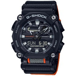 casio g-shock  uomo cronografo digitale nero giallo 200m world time illuminator