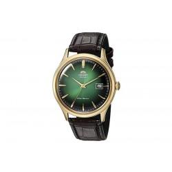 Orologio Orient Bambino acciaio gold uomo automatico stile vintage verde pelle