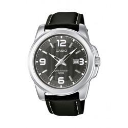 Casio Collection Analogico orologio da uomo data pelle nero 43 mm tipo vintage