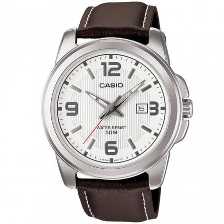 Casio Collection Analogico orologio da uomo data pelle marrone 43 mm tipo vintage