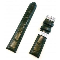 Cinturino orologio Morellato vera pelle imbottito stampa cocco verde 18 20 22 mm